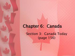 Chapter 6:  Canada