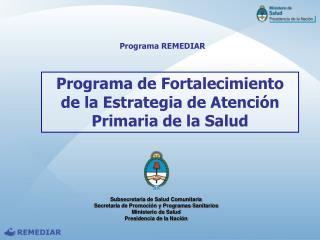 Programa de Fortalecimiento de la Estrategia de Atención Primaria de la Salud