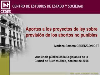 Aportes a los proyectos de ley sobre provisión de los abortos no punibles