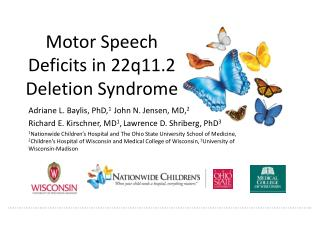 Motor Speech Deficits in 22q11.2 Deletion Syndrome