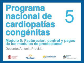 Programa nacional de cardiopat�as cong�nitas