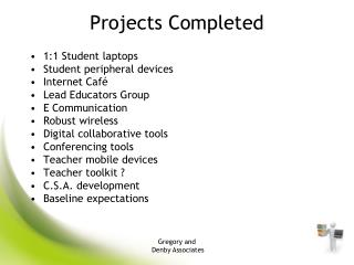 Projects Completed