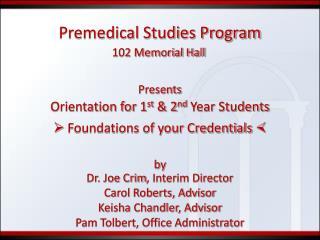 Premedical Studies Program