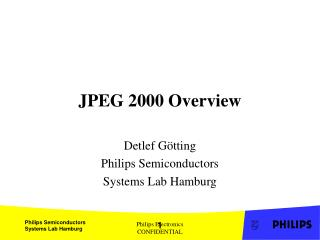 JPEG 2000 Overview