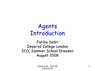 Agents Introduction