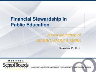 Financial Stewardship in  Public Education