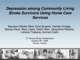 Depression among Community Living Stroke Survivors Using Home Care Services