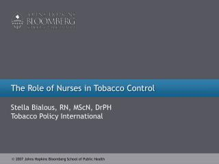 The Role of Nurses in Tobacco Control