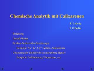 Chemische Analytik mit Calixarenen