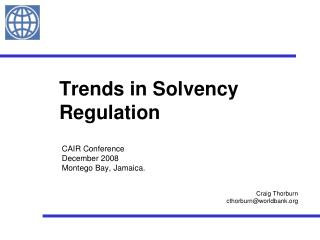 Trends in Solvency Regulation