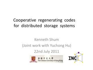 Cooperative  regenerating  codes  for  distributed  storage  systems