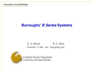 Burroughs'  B Series  Systems