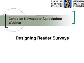 Canadian Newspaper Association: Webinar