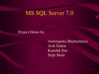 MS SQL Server 7.0