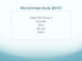 Microclimate study @HCI