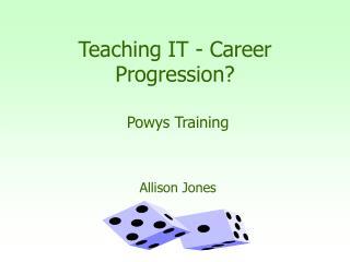 Teaching IT - Career Progression?