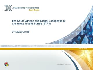 The South African and Global Landscape of Exchange Traded Funds (ETFs)