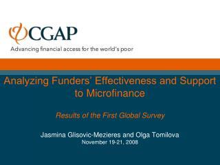 CGAP 2008 Funder Survey