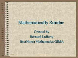 Mathematically Similar