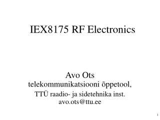 IEX8175 RF Electronics