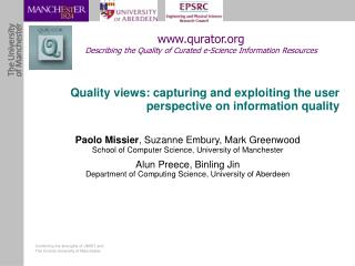 Quality views: capturing and exploiting the user perspective on information quality