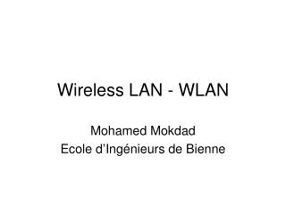Wireless LAN - WLAN