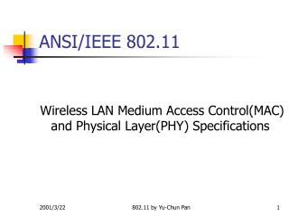 ANSI/IEEE 802.11