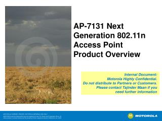AP-7131 Next Generation 802.11n Access Point  Product Overview