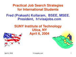 Practical Job Search Strategies  for International Students