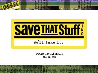 CCAB   Food Maters May 10, 2010