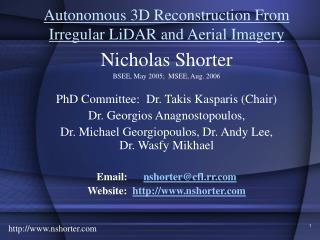 Autonomous 3D Reconstruction From Irregular LiDAR and Aerial Imagery