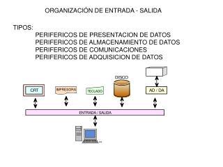 ORGANIZACIÓN DE ENTRADA - SALIDA