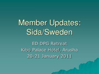 Member Updates: Sida /Sweden