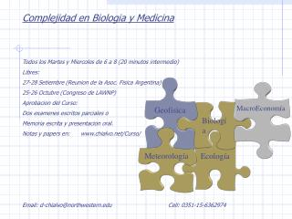 Complejidad en Biologia y Medicina