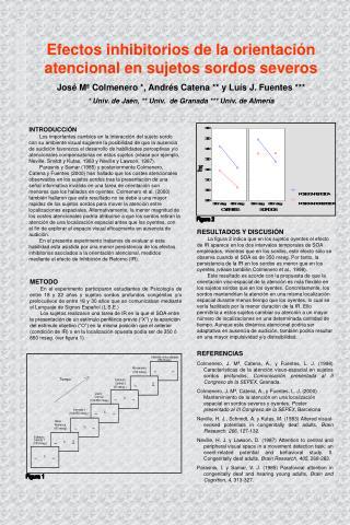 Efectos inhibitorios de la orientaci�n atencional en sujetos sordos severos