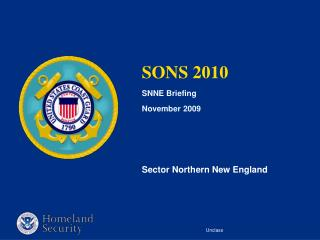 SONS 2010 SNNE Briefing November 2009 Sector Northern New England