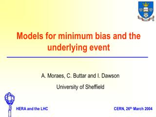 Models for minimum bias and the underlying event
