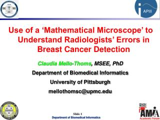 Use of a 'Mathematical Microscope' to Understand Radiologists' Errors in Breast Cancer Detection