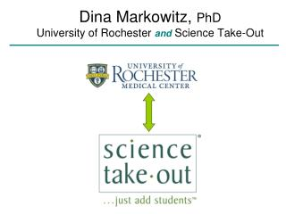 Dina Markowitz,  PhD University of Rochester  and  Science Take-Out