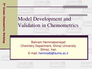 Model Development and Validation in Chemometrics