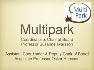 Multipark Coordinator & Chair of Board Professor Susanne Iwarsson