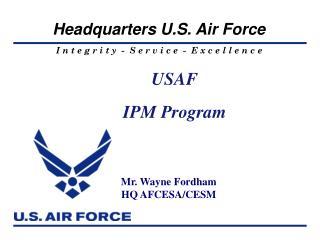 USAF IPM Program