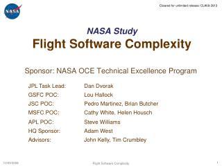 NASA Study Flight Software Complexity