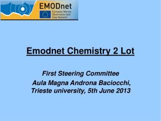 Emodnet Chemistry 2 Lot