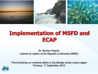 Implementation of  MSFD and ECAP