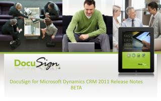 DocuSign for Microsoft Dynamics CRM 2011 Release Notes BETA