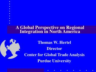 A Global Perspective on Regional Integration in North America