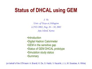 Status of DHCAL using GEM