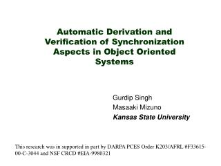 Automatic Derivation and Verification of Synchronization Aspects in Object Oriented Systems