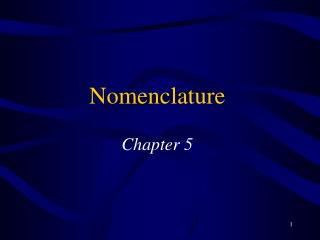 Nomenclature  Chapter 5